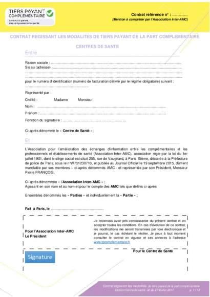 contrat unique complémentaires centre de santé