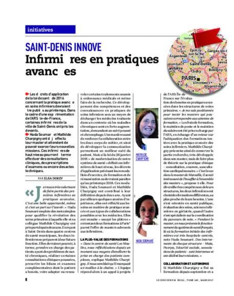 Article Concours médical_infirmières en pratiques avancées au centre de santé de Saint-Denis_93