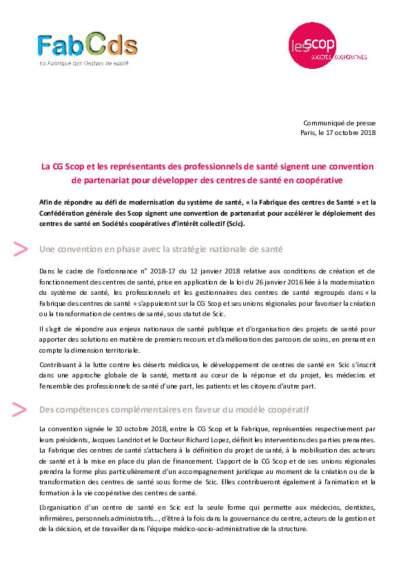 communiqué de presse CG SCOP - La Fabrique des CDS