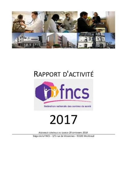 rapport d'activité FNCS 2017