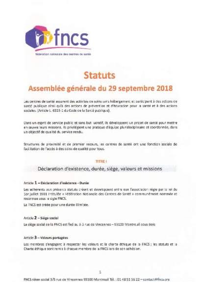 Les statuts de la FNCS adoptés en AG du 29_09_18