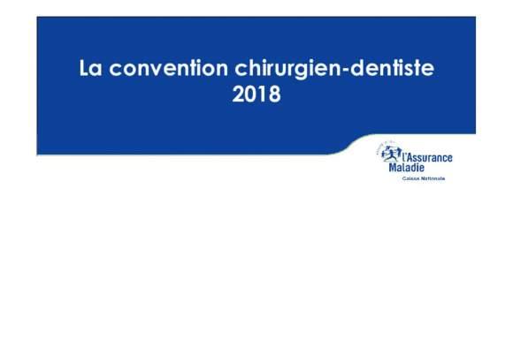 Présentation de la conventon dentaire 2019 par la CNAMTS