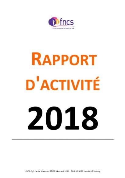 Rapport d'activité FNCS 2019