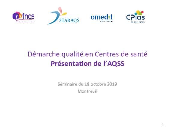 présentation_plateforme_AQSS_autoévaluation QUALITE