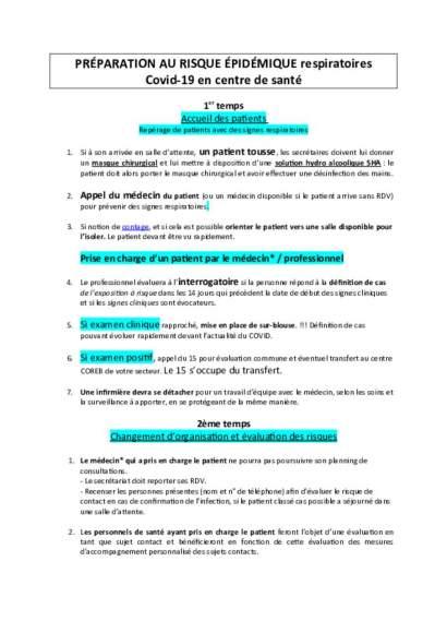 CDS_Préparation au risque épidémique_Covid19