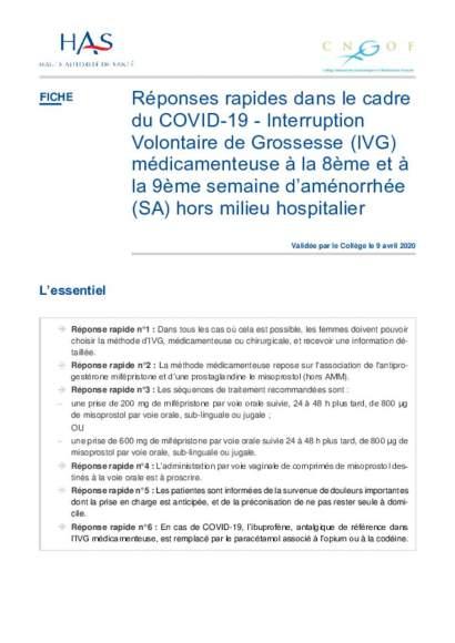 HAS : réponse rapide pour IVG_v09042020