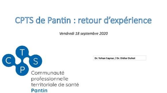 CPTS Pantin, retour d'expérience