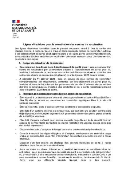 lignes directrices_centre de vaccination