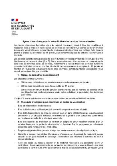 Cahier des charges_centre de vaccination_01/2021