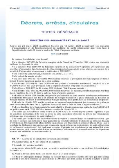 Les rémunérations_arrêté du 26/03/2021