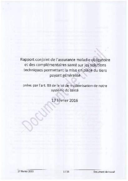 Rapport Tiers payant généralisé RO - RC_17_02_2016