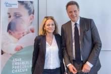 Dr Colombani, Pte FNCS et N. REVEL, DG CNAMTS