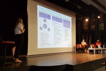 présentation de Lucie Loisel, CNAM en présence de Sophie Augros, Ministère des solidarités et de la